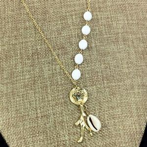 Jewelry - Necklace Earrings Goldtone Sand Dollar